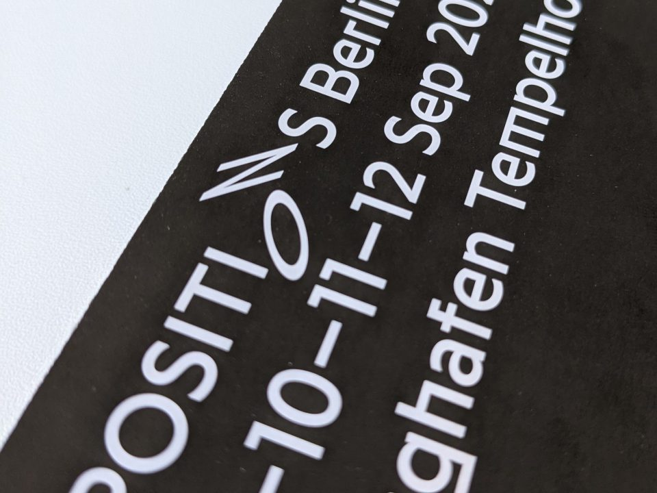 Announcement of Positions Berlin Art Fair